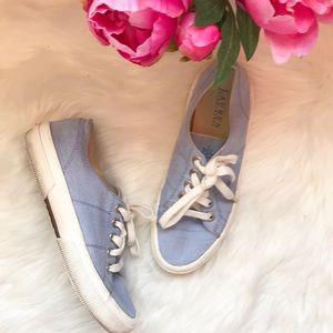Ralph Lauren denim chambray lace up sneaker shoes